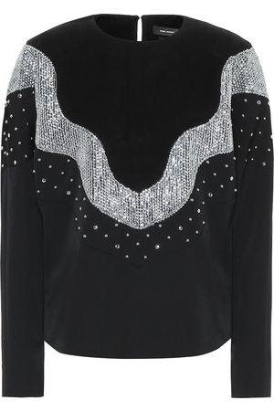 Isabel Marant Valia embellished wool top