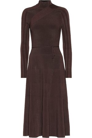 Peter Do Seatbelt ribbed knit midi dress