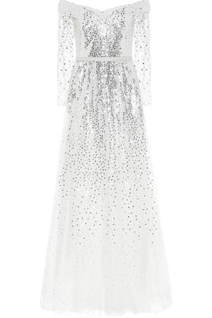 Marchesa Notte Exclusive to Mytheresa – Off-the-shoulder sequined gown