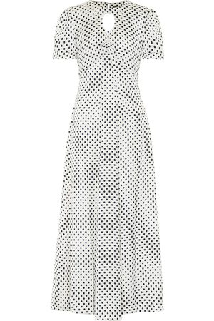 AlexaChung Maria & Dot polka-dot satin midi dress