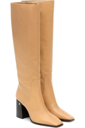 Jimmy Choo Brionne 85 leather knee-high boots