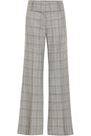Frame Metropolitan checked wide-leg pants