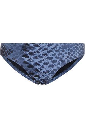 Karla Colletto Bree snakeskin-print bikini bottoms
