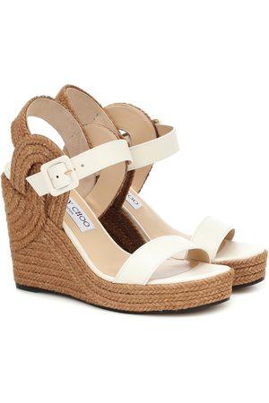 Jimmy Choo Delphi 100 wedge espadrille sandals