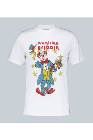MARTINE ROSE Cotton T-shirt with clown artwork