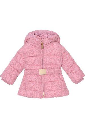 MONNALISA Baby leopard-print puffer coat