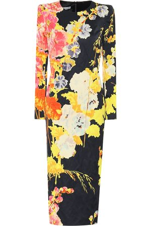 DRIES VAN NOTEN Floral crêpe midi dress