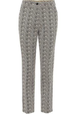 Etro Embroidered slim-fit pants