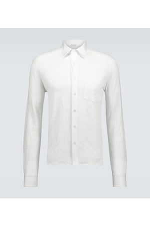 CARUSO Relaxed-fit linen shirt