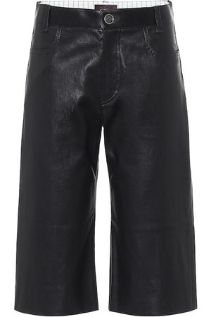 Stouls Sofiane leather Bermuda shorts