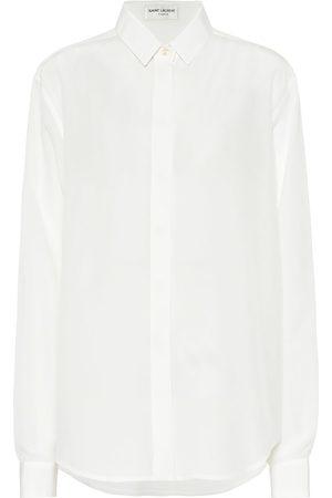 Saint Laurent Silk crêpe-de-chine blouse