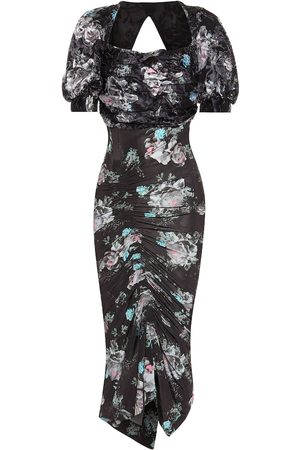 THORNTON BREGAZZI Gizzy floral midi dress