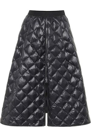 Moncler Quilted down midi skirt