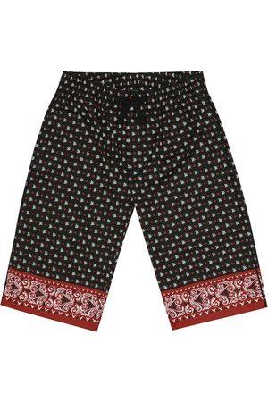 Dolce & Gabbana Printed cotton bermuda shorts