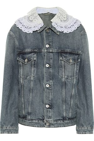 Miu Miu Lace-trimmed denim jacket