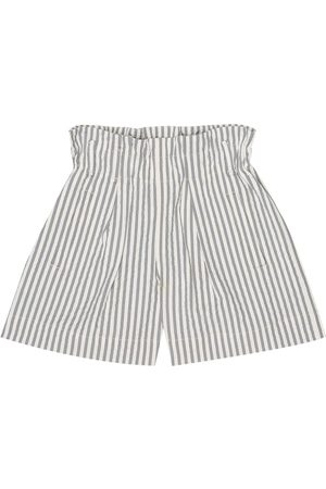 Brunello Cucinelli Striped stretch-seersucker shorts
