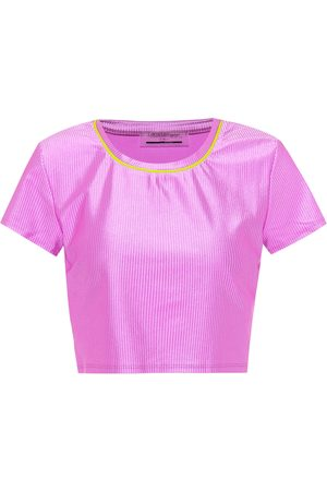 Lanston Malibu technical-jersey crop top
