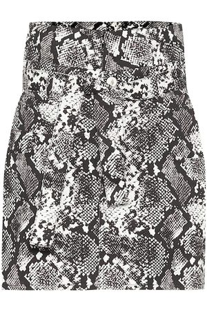 The Attico Virgi python-print cotton miniskirt