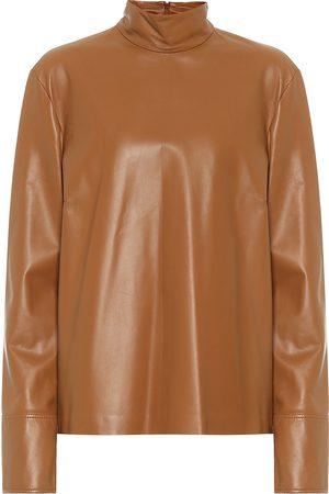 Joseph Bibo leather mockneck top