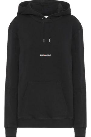Saint Laurent Logo cotton-jersey hoodie
