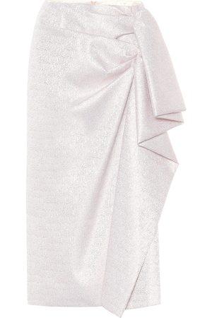 DRIES VAN NOTEN Metallic midi skirt