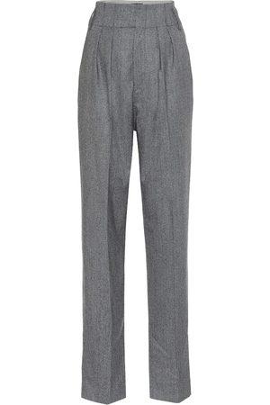 Isabel Marant Magali high-rise checked wool pants