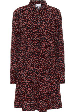Ganni Floral crêpe shirt dress