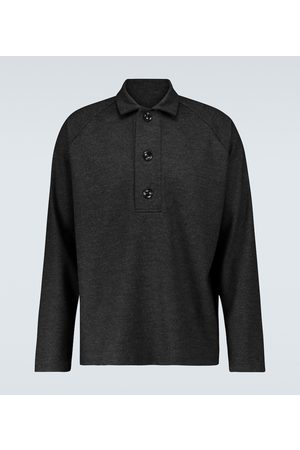 WINNIE N.Y.C Oversized long-sleeved polo shirt