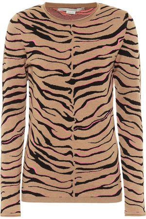 Stella McCartney Tiger-print intarsia wool-blend sweater