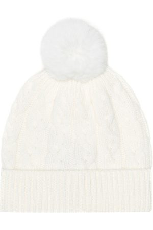 Loro Piana Downy Cables fur-trimmed cashmere hat