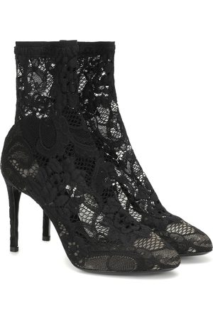 Dolce & Gabbana Stretch-lace ankle boots