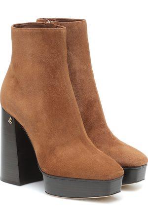 Jimmy Choo Bryn 125 suede platform ankle boots