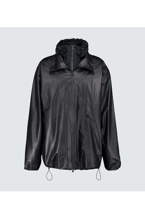 Bottega Veneta Leather jacket with nylon hood