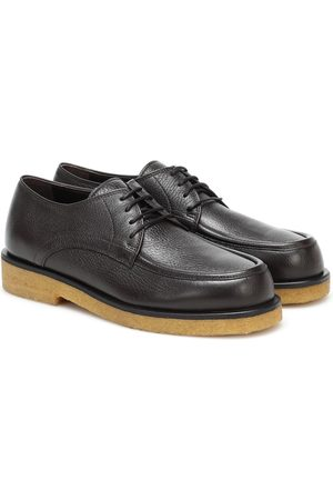 The Row Honore leather Derby shoes