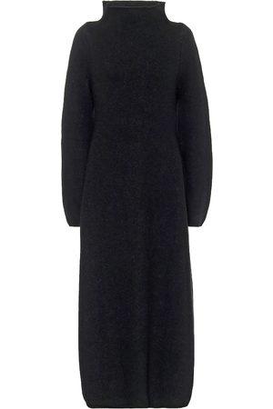 Jil Sander Wool-blend mockneck maxi dress