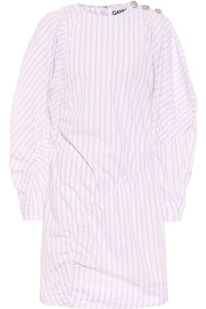 Ganni Striped cotton minidress