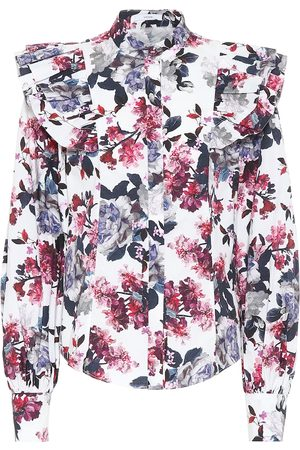 Erdem Caterina floral cotton-poplin top