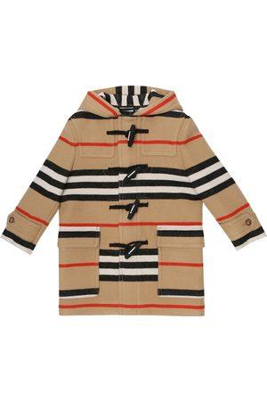 Burberry Icon Stripe virgin wool duffle coat