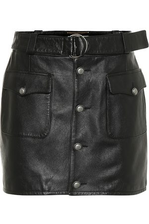 Saint Laurent Exclusive to Mytheresa – Leather miniskirt