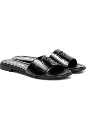 Prada Patent-leather slides