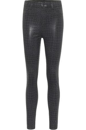 J Brand Leenah croc-effect skinny jeans