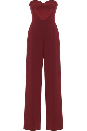 ALEX PERRY Brooke satin-crêpe jumpsuit