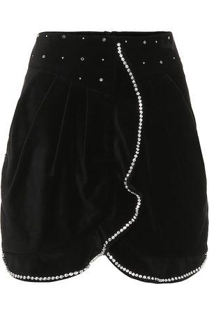 Isabel Marant Queeny embellished velvet miniskirt