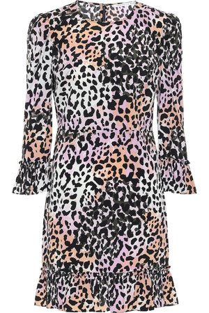 VERONICA BEARD Tamar printed stretch-silk minidress