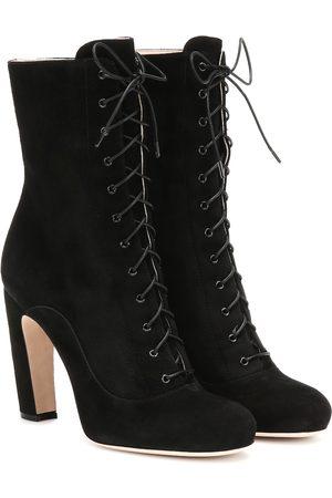 Miu Miu Dame Skoletter - Suede ankle boots