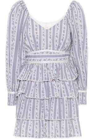 LOVESHACKFANCY Astor ruffled cotton minidress