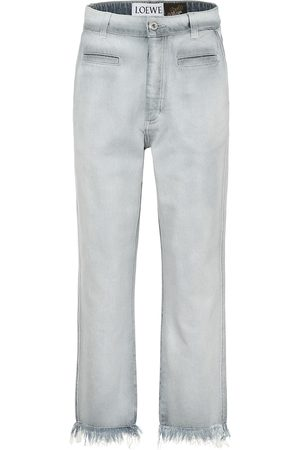 Loewe Paula's Ibiza low-rise frayed jeans