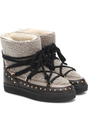 INUIKII Shearling and leather boots