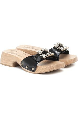 Roger Vivier Viv' Clogs patent leather sandals
