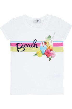 MONNALISA Printed stretch-cotton T-shirt